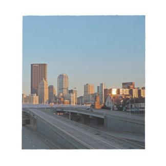 Pittsburgh Skyline at Sunset Memo Pad