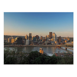 Pittsburgh Skyline at Sunset Post Cards