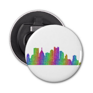 Pittsburgh skyline bottle opener