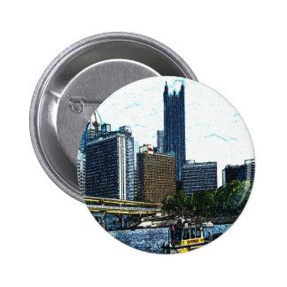 Pittsburgh Skyline Button