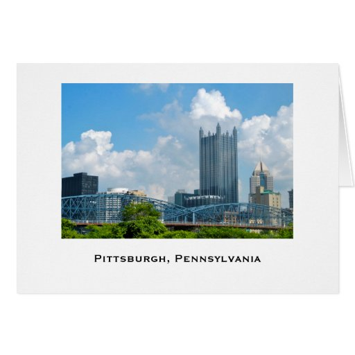 Pittsburgh Skyline Greeting Cards