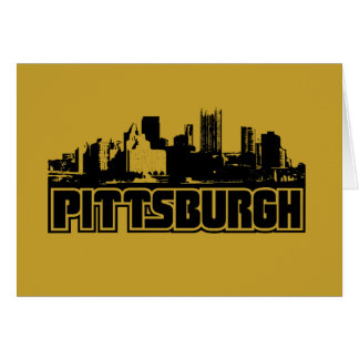 Pittsburgh Skyline Stationery Note Card