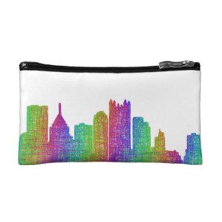 Pittsburgh skyline cosmetic bag