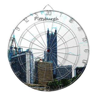 Pittsburgh Skyline Dart Boards