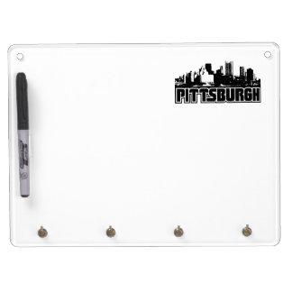 Pittsburgh Skyline Dry Erase Board With Keychain Holder