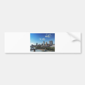 Pittsburgh Skyline from Liberty Street Bridge Bumper Sticker