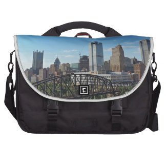 Pittsburgh Skyline from Liberty Street Bridge Laptop Commuter Bag