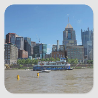 Pittsburgh skyline from PNC Park Square Sticker