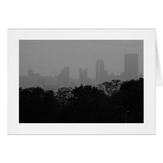 Pittsburgh Skyline from Schenley park Stationery Note Card