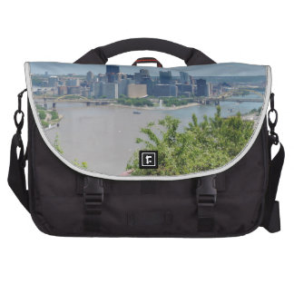 Pittsburgh Skyline from West End Overlook Computer Bag