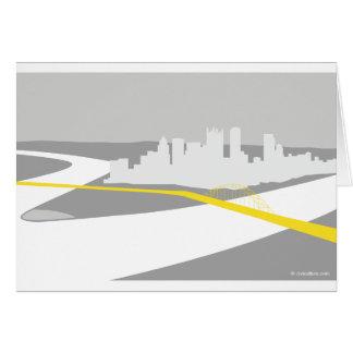Pittsburgh skyline graphic card