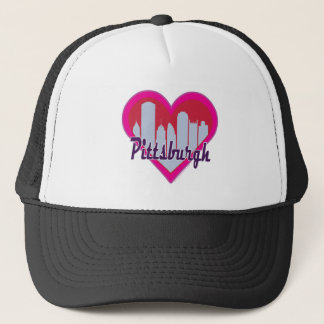 Pittsburgh Skyline Heart Trucker Hat