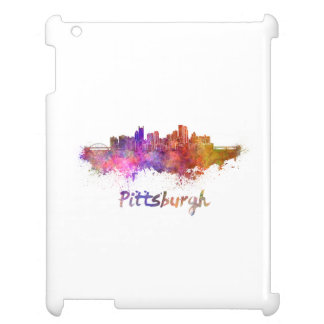 Pittsburgh skyline in watercolor iPad covers