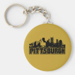 Pittsburgh Skyline Keychain