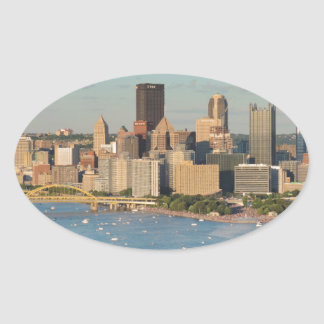 Pittsburgh Skyline Oval Sticker