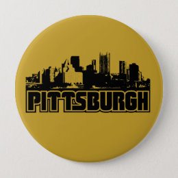 Pittsburgh Skyline Pinback Button