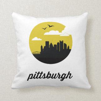 Pittsburgh Skyline | Pittsburgh Pennsylvania Throw Pillow