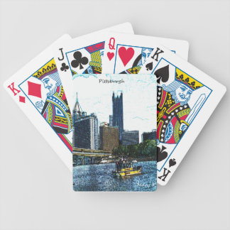 Pittsburgh Skyline Bicycle Playing Cards
