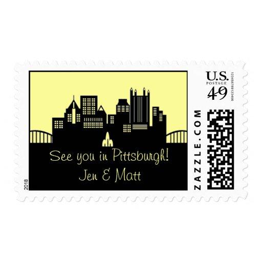 Pittsburgh Skyline Postage Stamp