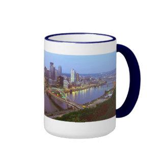 Pittsburgh Skyline Ringer Mug