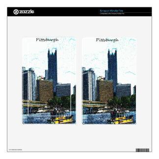 Pittsburgh  Skyline Kindle Fire Skins