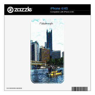 Pittsburgh  Skyline Skin For The iPhone 4
