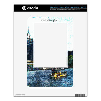 Pittsburgh  Skyline Skins For The NOOK