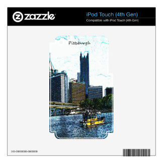 Pittsburgh  Skyline iPod Touch 4G Decals