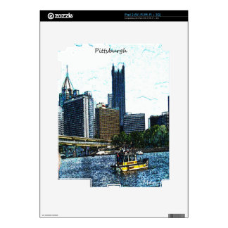 Pittsburgh  Skyline Skin For The iPad 2