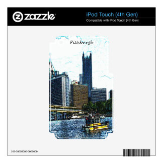Pittsburgh Skyline iPod Touch 4G Decal