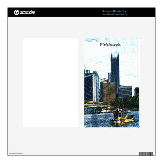 Pittsburgh Skyline Kindle Fire Decal