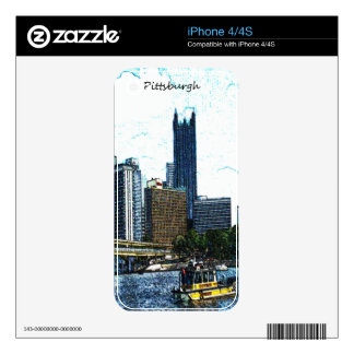 Pittsburgh Skyline iPhone 4S Decals