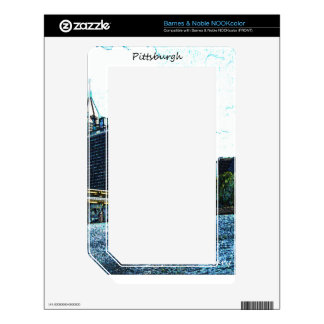 Pittsburgh  Skyline NOOK Color Decals