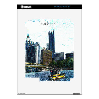 Pittsburgh Skyline Decal For iPad 2