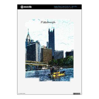 Pittsburgh Skyline iPad 3 Decal