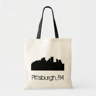 Pittsburgh Skyline Tote Canvas Bag