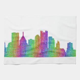 Pittsburgh skyline towels