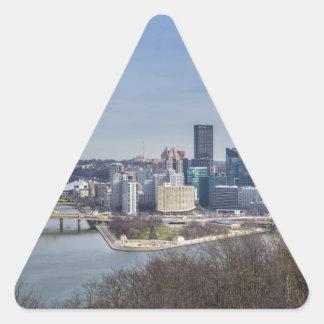 Pittsburgh Skyline Triangle Sticker