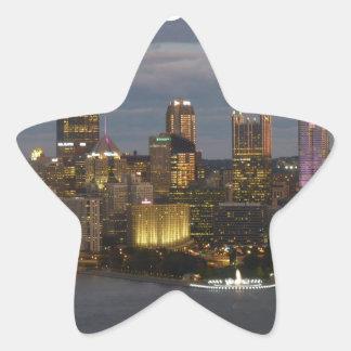 pittsburgh star sticker