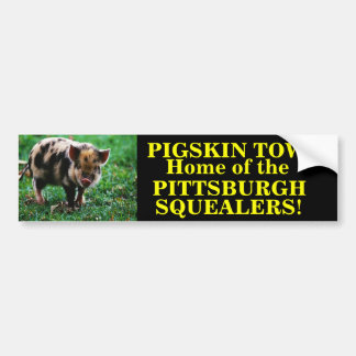 PITTSBURGH STEELERS (SQUEALERS) BUMPER STICKER