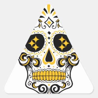 Pittsburgh Sugar Skull Triangle Sticker