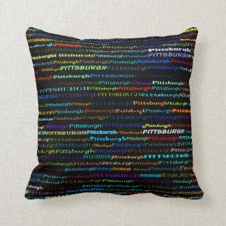 Pittsburgh Text Design I Throw Pillow