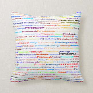 Pittsburgh Text Design II Throw Pillow