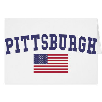 Pittsburgh US Flag Card