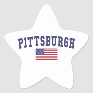 Pittsburgh US Flag Star Sticker