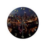 Pittsburgh vía la pendiente de Monongahela Reloj Redondo Mediano