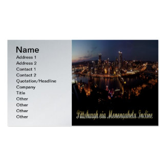 Pittsburgh via Monongahela Incline Double-Sided Standard Business Cards (Pack Of 100)