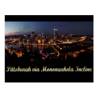 Pittsburgh via Monongahela Incline Postcard