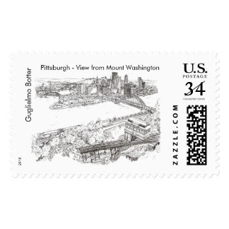"""Pittsburgh, """"View from Mount Washington"""" Stamp"""