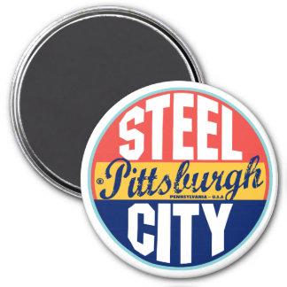 Pittsburgh Vintage Label 3 Inch Round Magnet